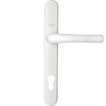Aluminium door handle - white