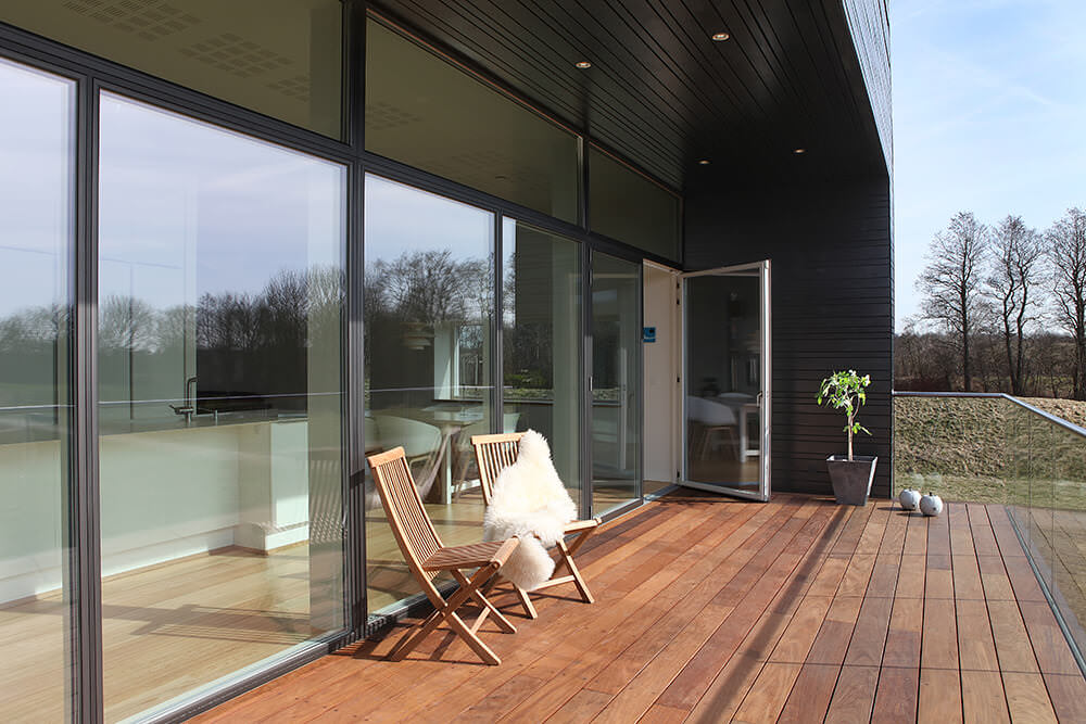 Aluminium Composite Timber Patio Doors