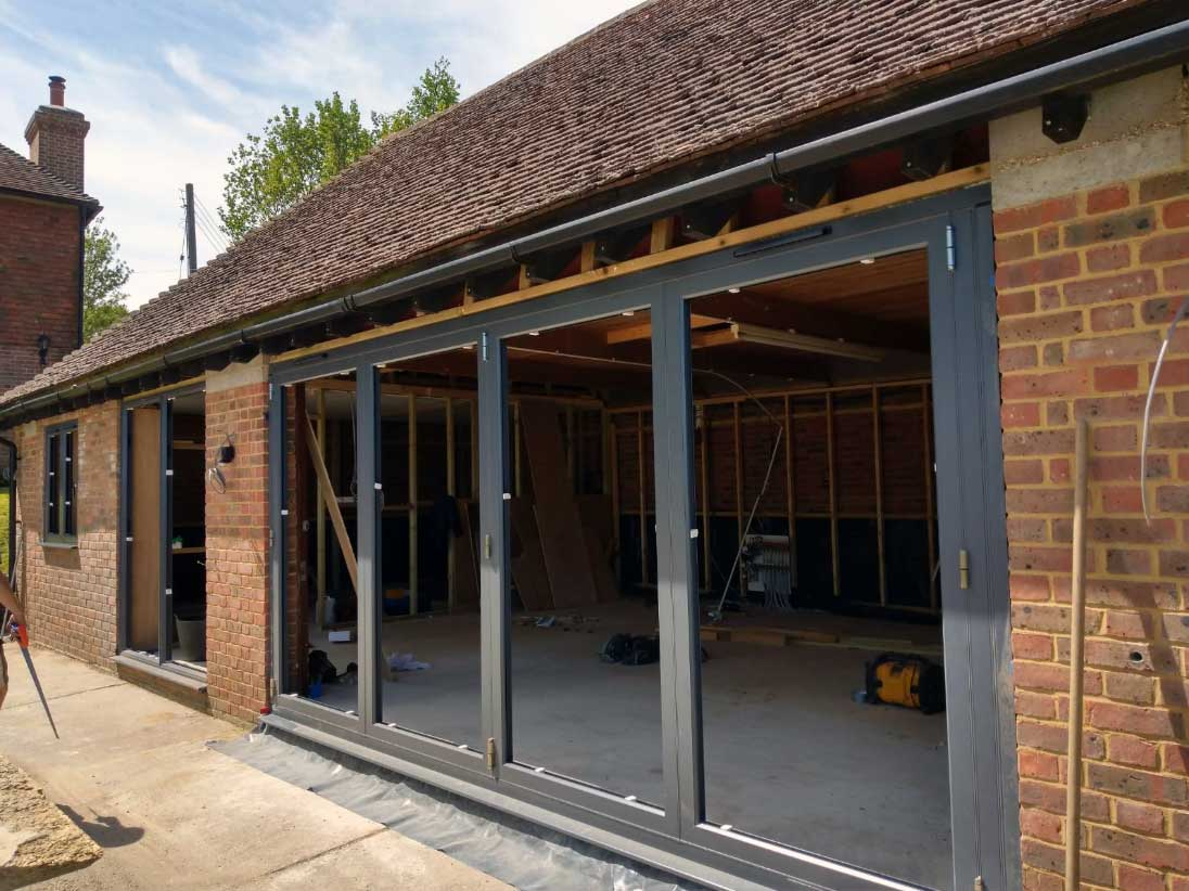 aluminium bi-fold doors Broad Oak Brede, East Sussex