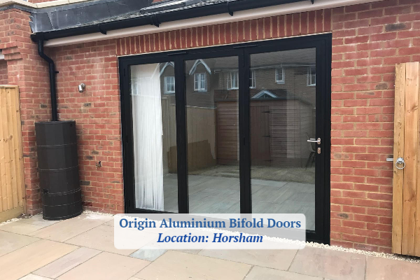 Aluminium bifold doors fitted in Horsham project